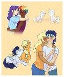 applejack feellikeaplat flowers highres humanized rainbow_dash raridash rarijack rarity shipping soarin
