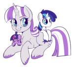 colt filly lulubellct parents shining_armor twilight_sparkle twilight_velvet