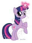 azureglow highres magic transparent twilight_sparkle