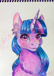 alina-sherl traditional_art twilight_sparkle