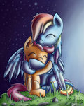 1vladislav hugs rainbow_dash scootaffection scootaloo