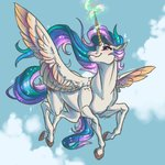 absurdres faline flying highres magic princess_celestia