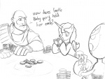 artist_unknown cards comic crossover heavy homestar_runner i_shall_not_use_my_hooves_as_hands lineart poker poker_night_at_the_inventory princess_luna strongbad team_fortress_2