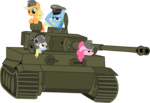 applejack derpy_hooves military pinkie_pie rainbow_dash tank_(vehicle) tensaioni