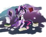 book cup glasses magic paper ponytail shirt silbersternenlicht twilight_sparkle