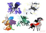 changeling creeate97 discord highres king_sombra nightmare_moon queen_chrysalis storm_king