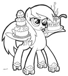 abronyaccount cake derpy_hooves lineart pot rollerskates this_will_end_well