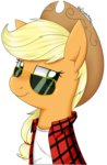 applejack glasses notenoughapples shirt
