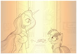 princess_celestia sherwoodwhisper spike traditional_art twilight_sparkle