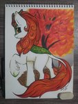 autumn_blaze gleamydreams highres kirin traditional_art