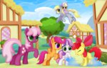 apple_bloom cheerilee ctb-36 cutie_mark_crusaders derpy_hooves dinky_hooves scootaloo sweetie_belle