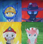 astronaut costume dinky_hooves firefighter mare-do-well nurse_redheart sugarcube-owl