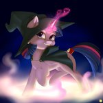absurdres captainpudgemuffin costume highres nightmare_night princess_twilight twilight_sparkle witch