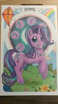 absurdres flowers helicityponi highres kite starlight_glimmer traditional_art