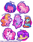 bon_bon_(tales) bright_eyes chibi clover g1 melody my_little_pony_tales patch starlight sweetheart zambicandy