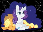 applejack rarity satrathai sleeping
