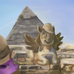 derpy_hooves pyramid sphinx suranon twilight_sparkle