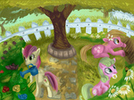 butterfly daisy flowers lily_valley rose solid-snivy tree watering_can