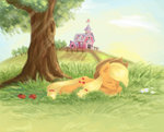 applejack eljonek sleeping sweet_apple_acres