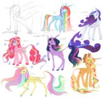 8-xenon-8 alicorn applejack flowers fluttershy highres main_six pinkie_pie princess princess_twilight rainbow_dash rarity twilight_sparkle