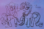 lineart pinkie_pie rarity scarf serge-stiles sketch text tie
