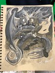 andy_price highres princess_luna queen_chrysalis traditional_art