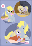 comic derpy_hooves dinky_hooves highres mail muffin raygirl vector
