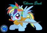 chrono_trigger crono crossover highres inkwell-pony rainbow_dash sword weapon