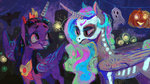 costume halloween nightmare_night princess_celestia princess_twilight twilight_sparkle wolfiedrawie