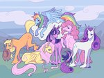 applejack fluttershy highres main_six pinkie_pie rainbow_dash rarity sillyrapids twilight_sparkle