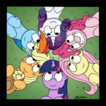applejack bobthedalek fluttershy highres main_six pinkie_pie rainbow_dash rarity twilight_sparkle