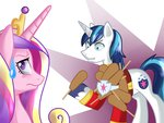 corndog friendship_is_witchcraft highres pon3splash princess_cadance shining_armor