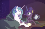 blanket egophiliac hot_chocolate princess_celestia princess_luna
