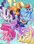 applejack celebi-yoshi fluttershy highres main_six pinkie_pie princess_twilight rainbow_dash rarity twilight_sparkle