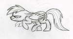 fim_crew lauren_faust production_art rainbow_dash sketch