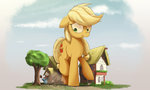 absurdres applejack big highres ncmares rainbow_dash scrunchy_face