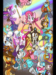 applejack costume daring-do derpy_hooves fluttershy highres hollulu league_of_legends lyra_heartstrings main_six octavia_melody pinkie_pie princess_cadance princess_celestia princess_luna rainbow_dash rarity shining_armor twilight_sparkle vinyl_scratch