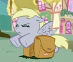 colored derpy_hooves elosande filly mail ponyville saddlebags