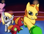 big_macintosh boxing crossover derpy_hooves little_mac negativefox ponified punch-out