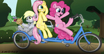 bicycle derpy_hooves fluttershy gummy muffin pinkie_pie smor3s