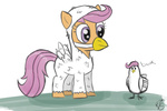 chicken costume helhoof scootaloo