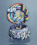 balloon cloud highres music_box rainbow_dash royal-serpent soarin spitfire wonderbolts