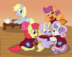 apple_bloom cutie_mark_crusaders derpy_hooves dinky_hooves muffin raygirl scootaloo sweetie_belle