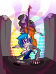 anthro highres octavia_melody scarf theyoungreaper vinyl_scratch