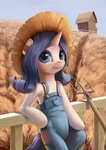 anthro farm hat highres maggwai pitchfork rarity
