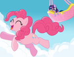 pinkie_pie twilight_sparkle volmise