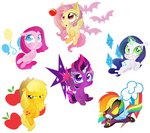 applejack apples flutterbat fluttershy hoofbeatdriven magic main_six pinkamena_diane_pie pinkie_pie princess_twilight rainbow_dash rarity shadowbolts tears twilight_sparkle