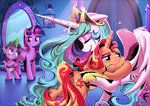 hugs princess_celestia princess_twilight shira-hedgie spike sunset_shimmer tears twilight_sparkle