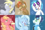 aosion big_macintosh button_mash derpy_hooves milkshake soarin the_great_and_powerful_trixie tongue vinyl_scratch