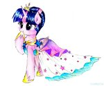clothes dress highres liaaqila princess_twilight traditional_art twilight_sparkle